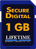 Lifetime Memory1GB SD Media