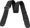 Reunion Blues Merino Wool Guitar Strap - Pinstripe with Black Leather Tabs