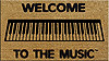 DR Welcome to the Music Doormat - Keyboard
