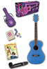 Daisy Rock Pixie Acoustic Starter Pack - Blue Sparkle