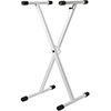 Strukture Double X-Brace Keyboard Stand - Gloss White