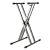 StruktureDouble X-Brace Keyboard Stand - Gunmetal