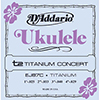 DaddarioEJ87C Titanium Ukulele Strings Concert