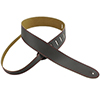 Henry Heller Basic Leather Guitar Strap Brown with Red Contrast Stitch