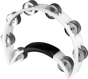 Rhythm Tech RT Pro Quality Tambourine White
