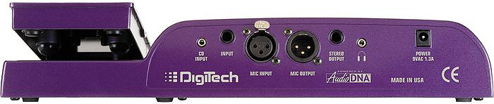Digitech Vocal 300  Rear View