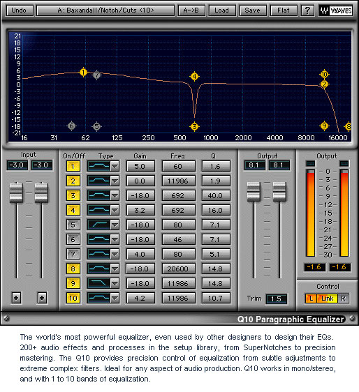 Waves Platinum - Native Digital Download Q10 Paragraphic Equalizer