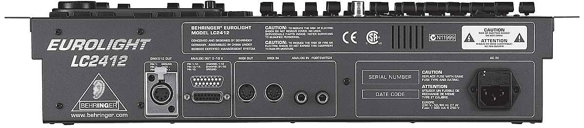 Behringer LC2412 Rear View