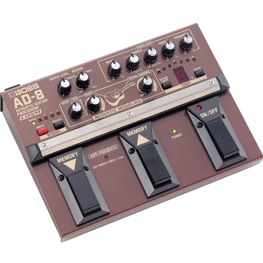 Boss AD-8 Angled View