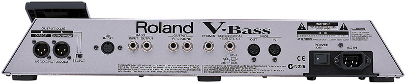 Roland V-Bass Open Box Rear View