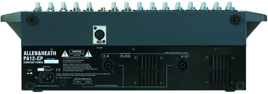 Allen Heath PA12 Back View
