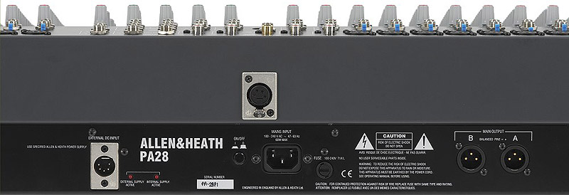 Allen Heath PA28 Rear View