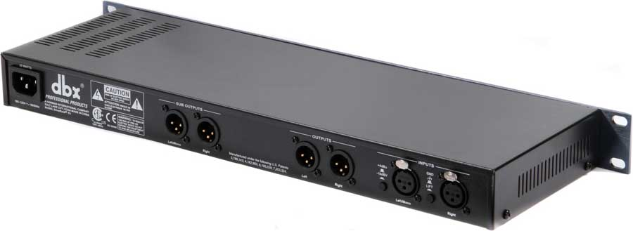 dbx Drive Rack PX Rear View
