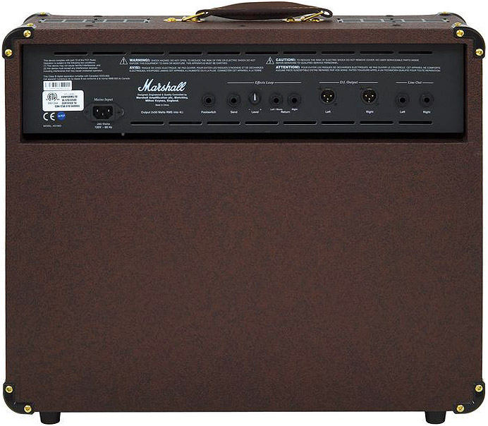 Marshall AS100D Rear View
