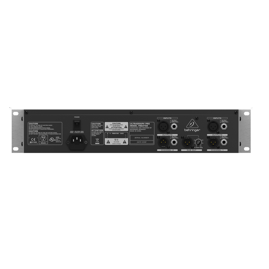 Behringer FBQ3102  ULTRAGRAPH PRO Rear View