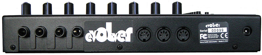 Dave Smith Evolver Rear View