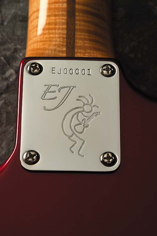 Fender Eric Johnson Stratocaster® Candy Apple Red Finish Eric Johnson Neckplate