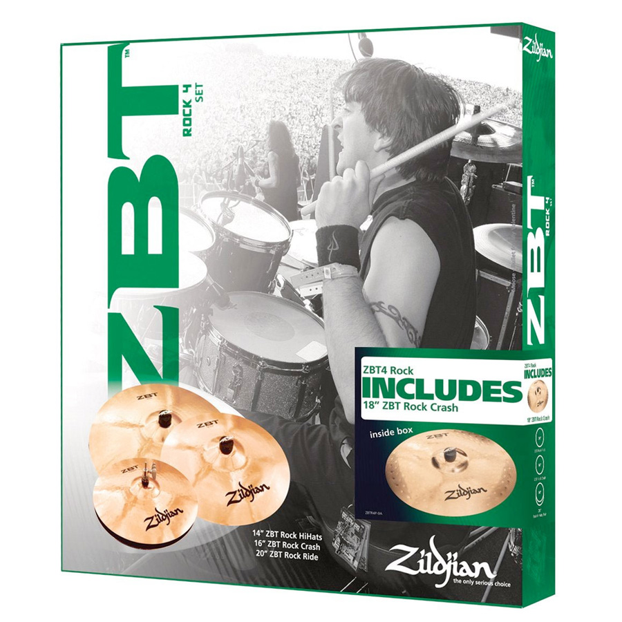 ZBTR4P9A ZBT Rock Promo Cymbal Box Set