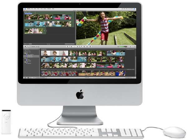 Apple iMac 20-inch with 2.16 GHz 64 bit Intel Core 2 Duo View 2 - iMovie