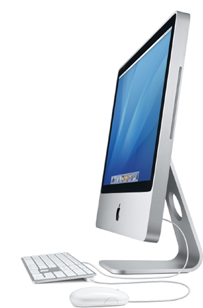 Apple iMac 20-inch with 2.16 GHz 64 bit Intel Core 2 Duo View 3 - Profile