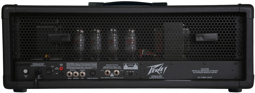 Peavey 6505 Plus Head Rear View
