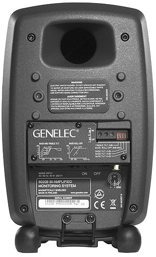 Genelec 8020BPM - Black Pair Rear View