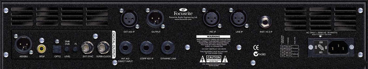 Focusrite ISA220 Back View