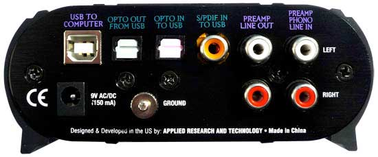 ART USB Phono Plus Rear View