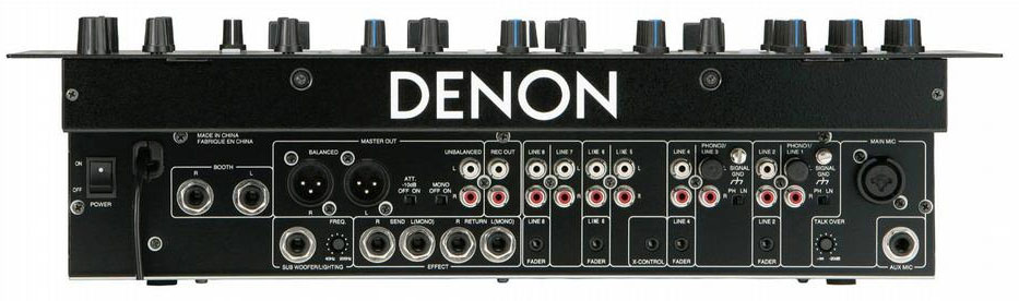 Denon DN-X500 Back View