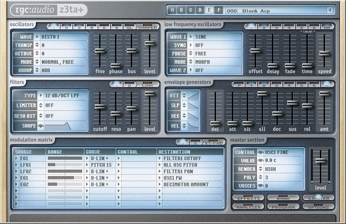 Cakewalk Z3TA+ View 2