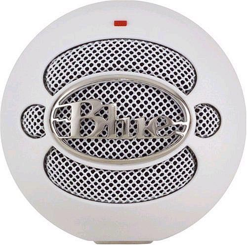 Blue Snowball - Textured White Front View