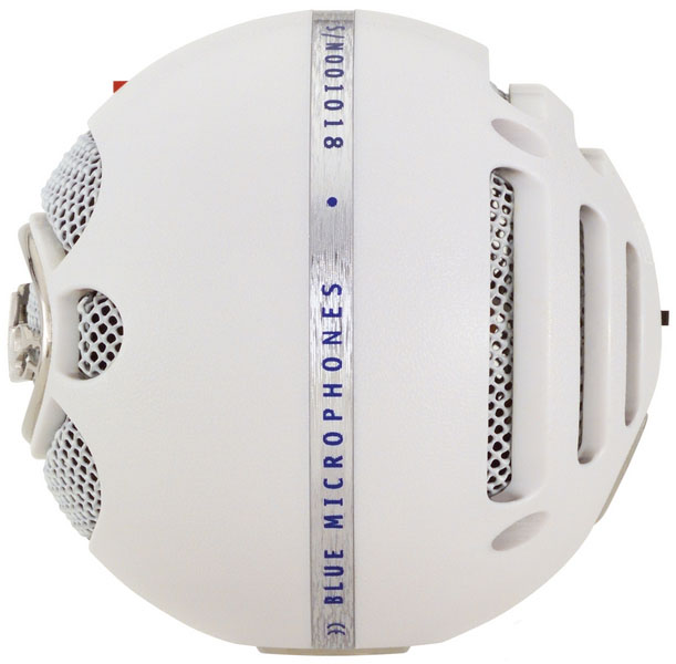Blue Snowball- Brushed Aluminium Side View