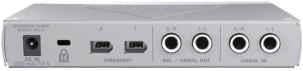 Behringer FCA202 Rear View