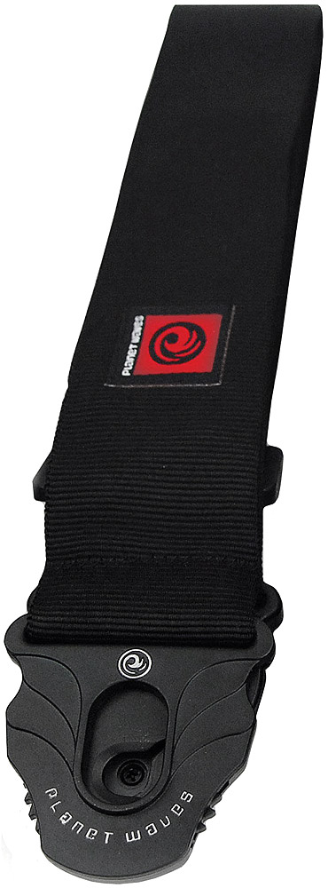 Planet Lock Guitar Strap - Black