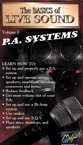 The Basics of Live Sound -PA Systems Vol.1 (DVD)