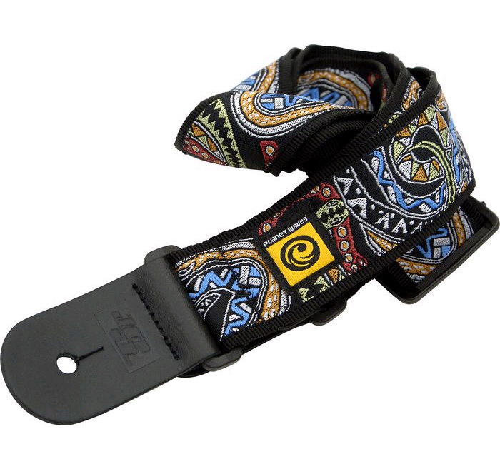 Planet Waves Joe Satriani Guitar Strap - Black/Green/Red Snakes Mosaic