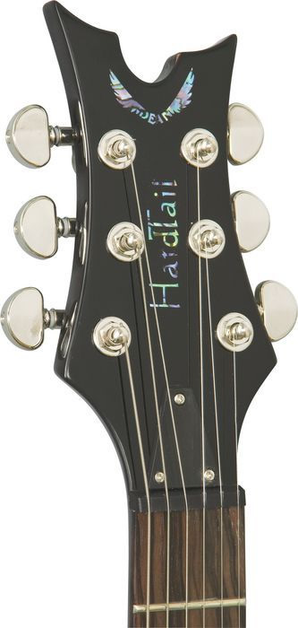 Dean Hardtail Select - Transparent Amberburst Finish Headstock