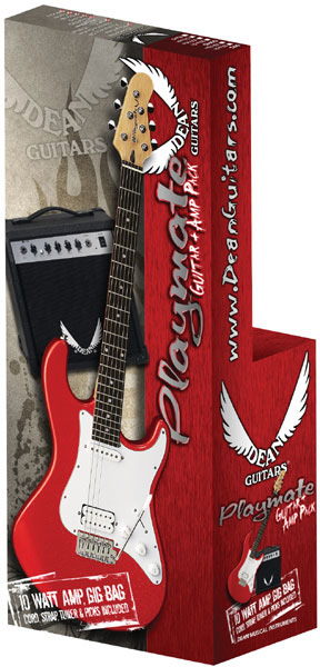 Playmate Avalanche Guitar Package - Metallic Red