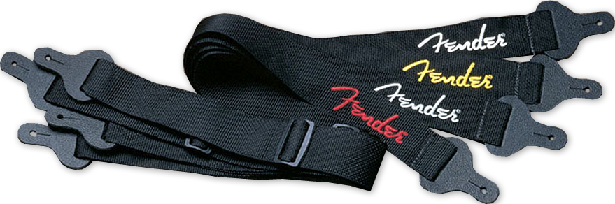 2-Inch Poly Logo Strap Black/Yellow Logo