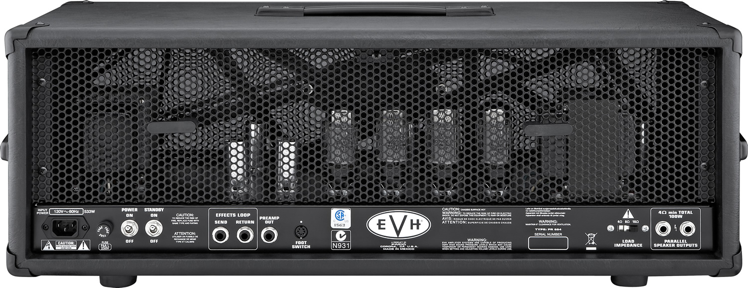 EVH 5150 III™ Guitar Amplifier Head - Black Rear View