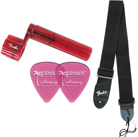 Fender DG-8S Picks, Strap and String Winder