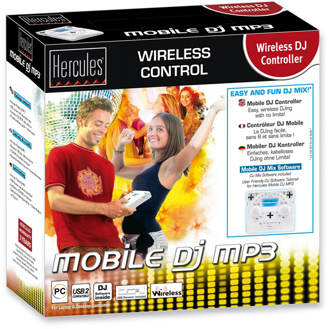 Hercules Mobile DJ MP3 (Black Finish) Box View