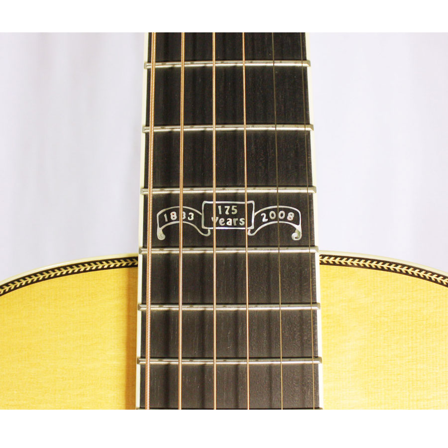 Martin 00 Stauffer 175th Neck Inlay Detail