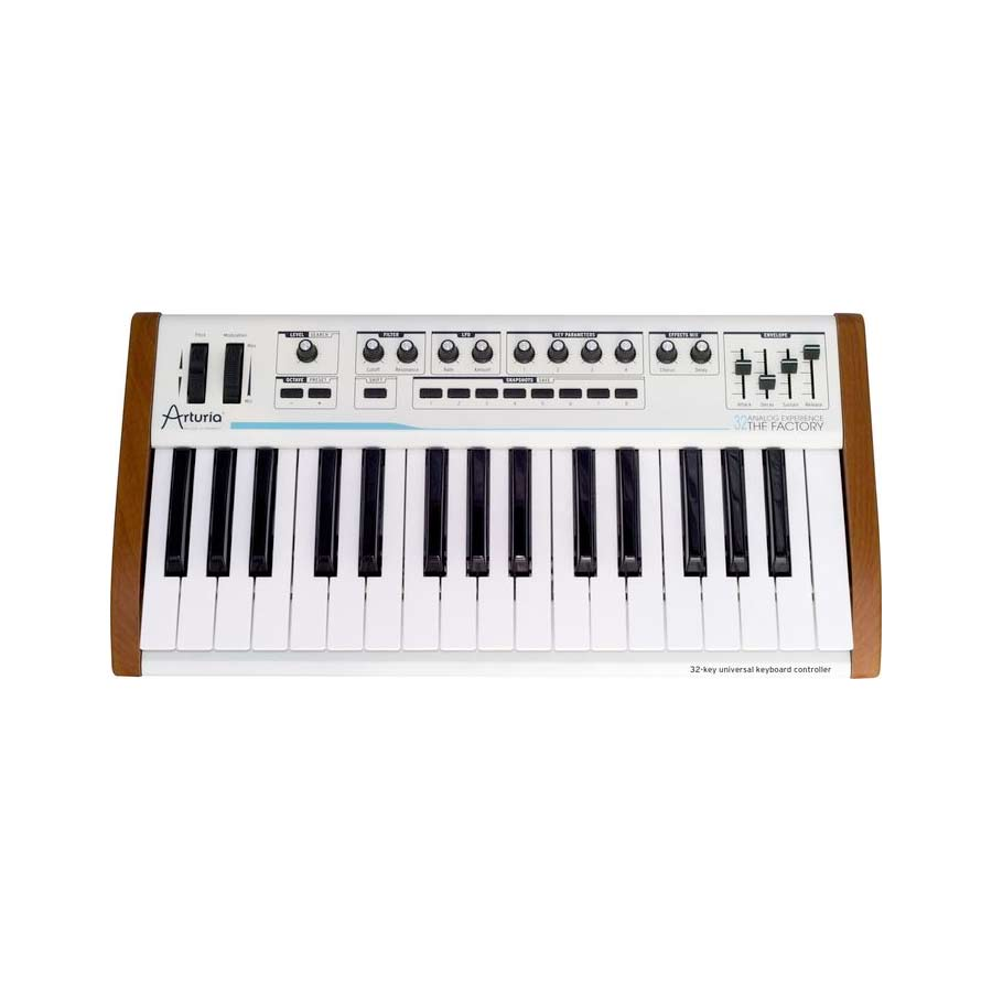 Arturia 32-Key Keyboard Analog Factory Experience Front View