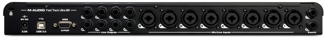 M-Audio Fast Track Ultra 8R w/ Pro Tools SE Rear View