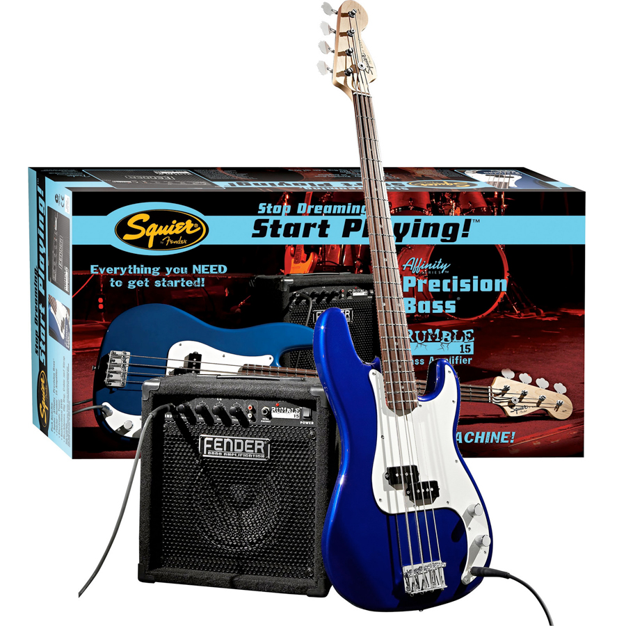 Affinity P Bass Pack with Rumble 15 Amp - Metallic Blue