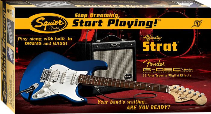Stop Dreaming, Start Playing! Affinity Strat HSS with G-DEC Junior Amp - Black