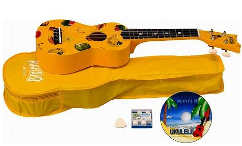 Mahalo Ukulele Kit - Yellow View 2