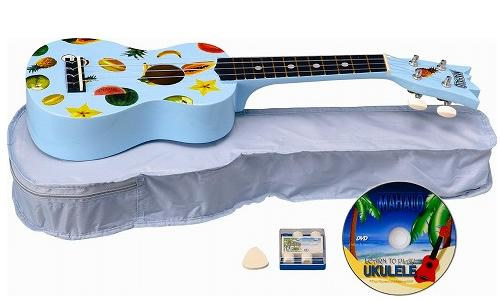 Mahalo UK-30LB Ukulele Kit - Blue View 2