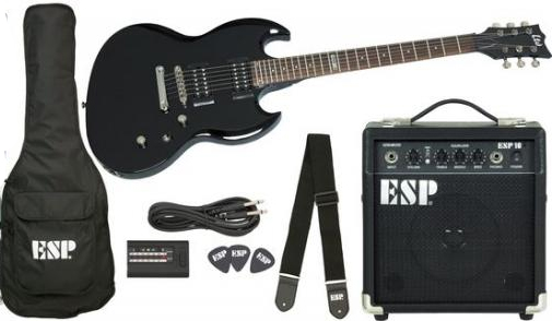ESP LTD Viper-10 Guitar Pack - Black Finish Complete Pack